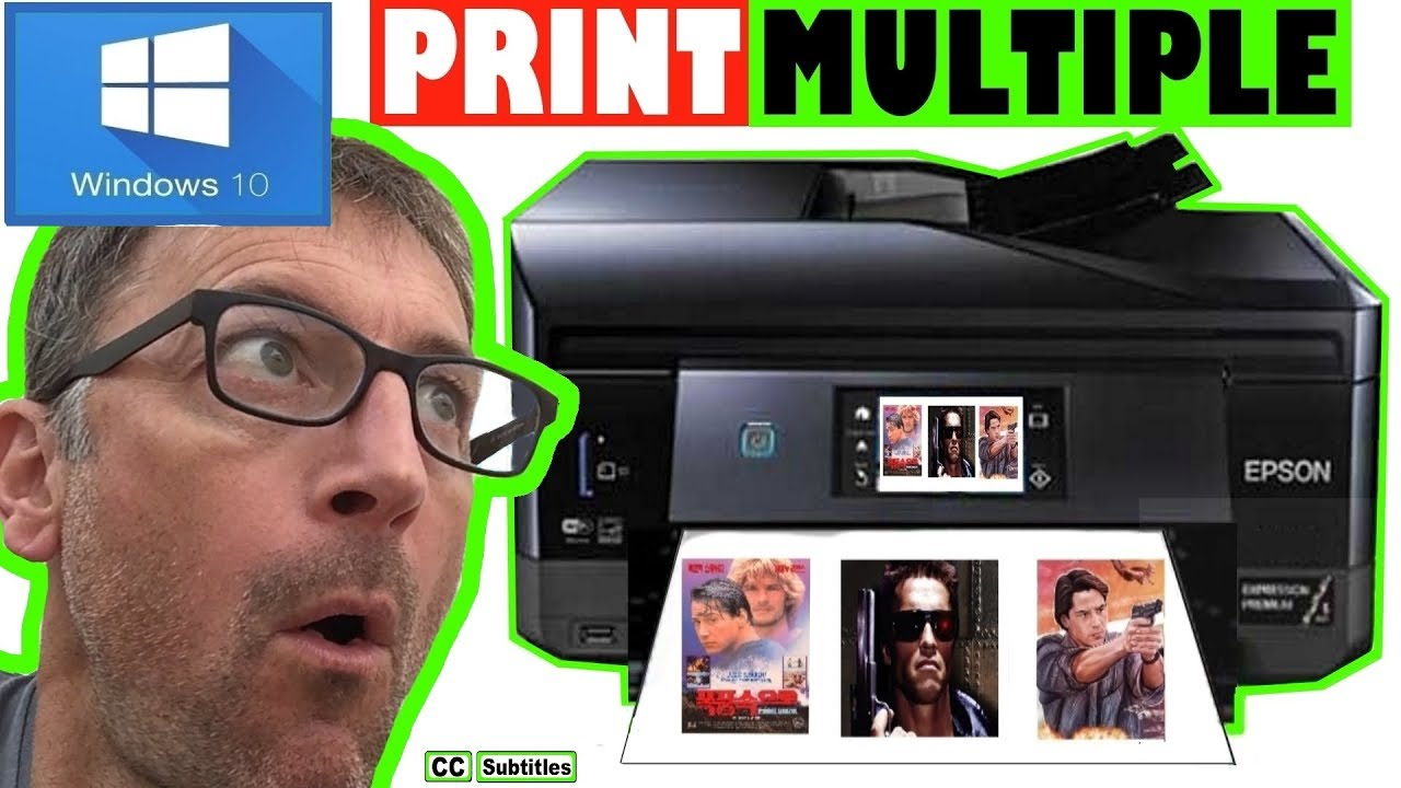 How To Print Multiple Pictures on One Page Windows
